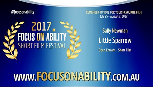 Stacee's short film Little Sparrow makes shortlist in Focus on Ability Film Festival!