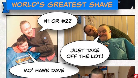 Dale's successful World's Greatest Shave!