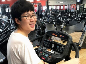 Philip makes gains with a new fitness routine
