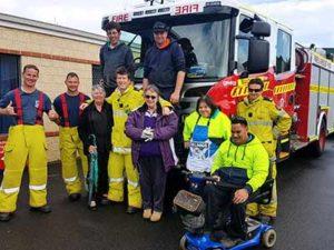 Mandurah fire brigade visits our Fire & Electrical Services
