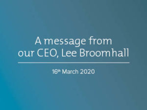Message from Workpower's CEO, Lee Broomhall