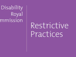 Issue Paper summary: Restrictive practices pt 3