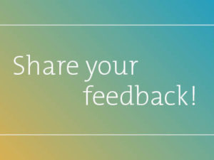 Share your feedback with us